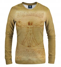 Aloha From Deer, Vitruvian Man WOMEN SWEATSHIRT Thumbnail $i