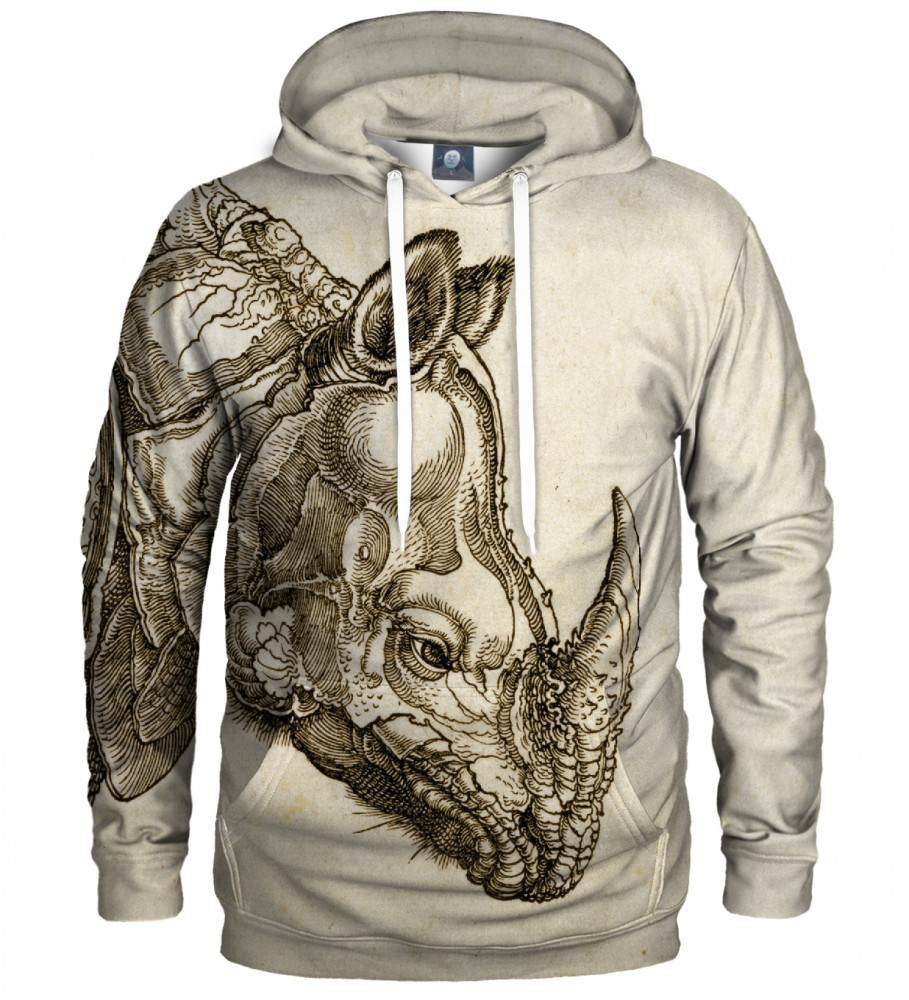 Aloha From Deer, DURER SERIES - RHINOCEROS HOODIE Image $i