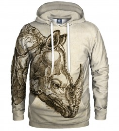 Aloha From Deer, DURER SERIES - RHINOCEROS HOODIE Thumbnail $i