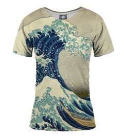 Aloha From Deer, GREAT WAVE WOMEN T-SHIRT Thumbnail $i
