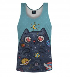 Aloha From Deer, SPACE CAT TANK TOP Thumbnail $i