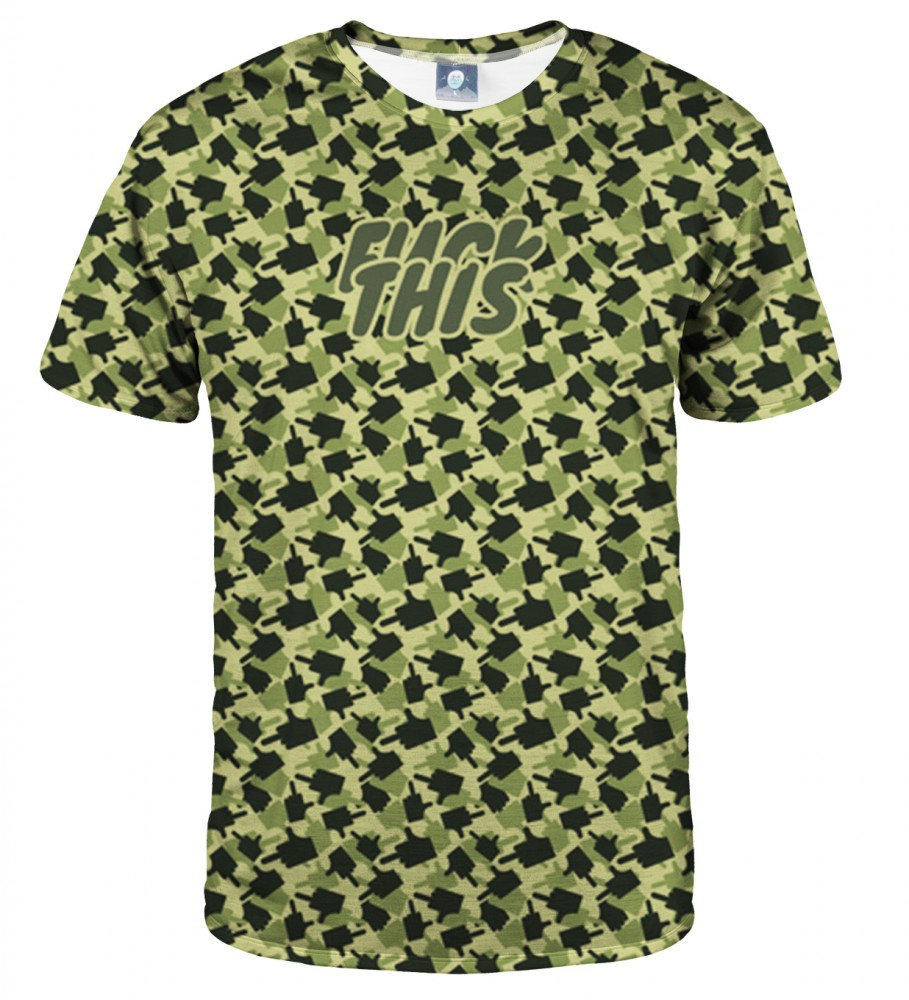 Aloha From Deer, FK THIS CAMO GREEN T-SHIRT Image $i