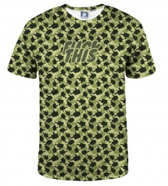 Aloha From Deer, FK THIS CAMO GREEN T-SHIRT Thumbnail $i
