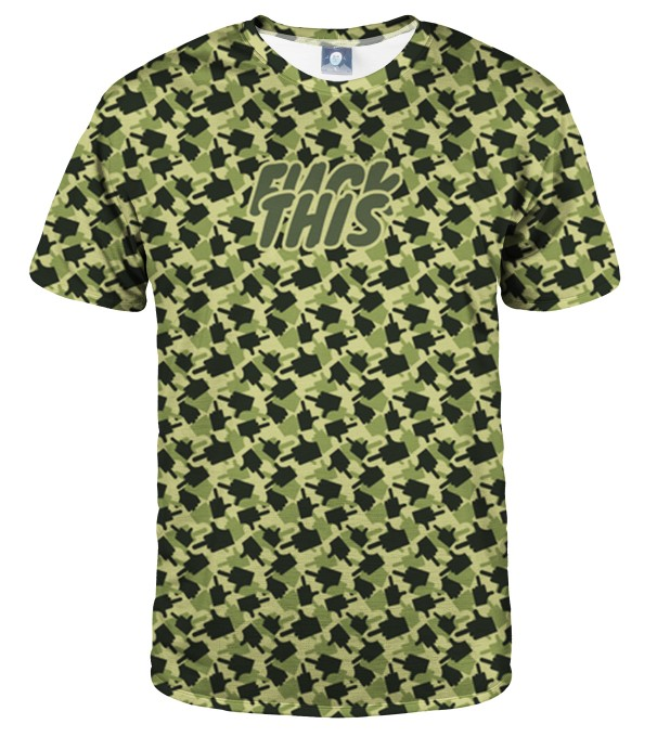 FK THIS CAMO GREEN T-SHIRT Thumbnail 1