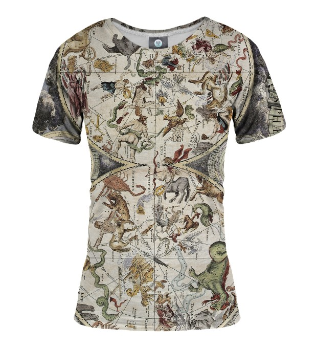 T-SHIRT DAMSKI MAP OF THE SKY Miniatury 1