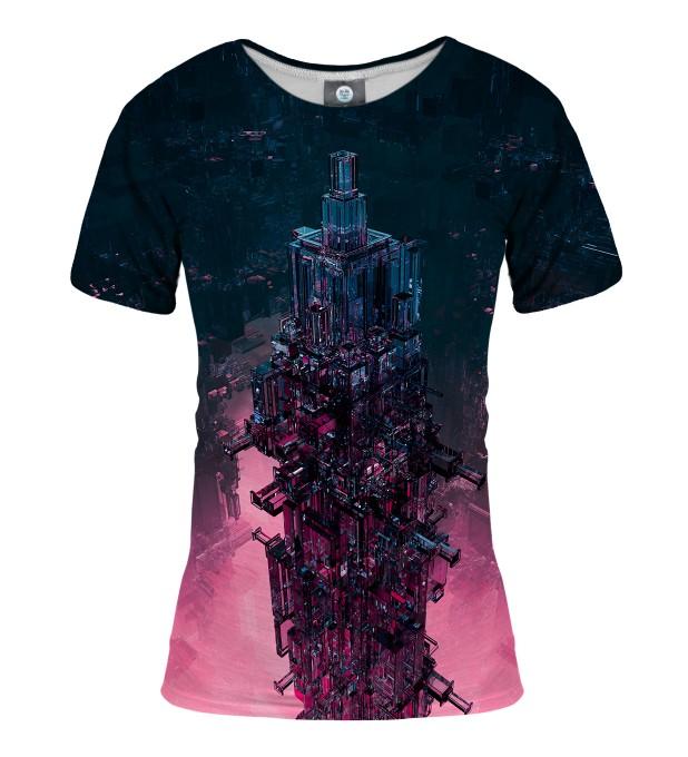 T-SHIRT DAMSKI GLASS TOWER   Miniatury 1