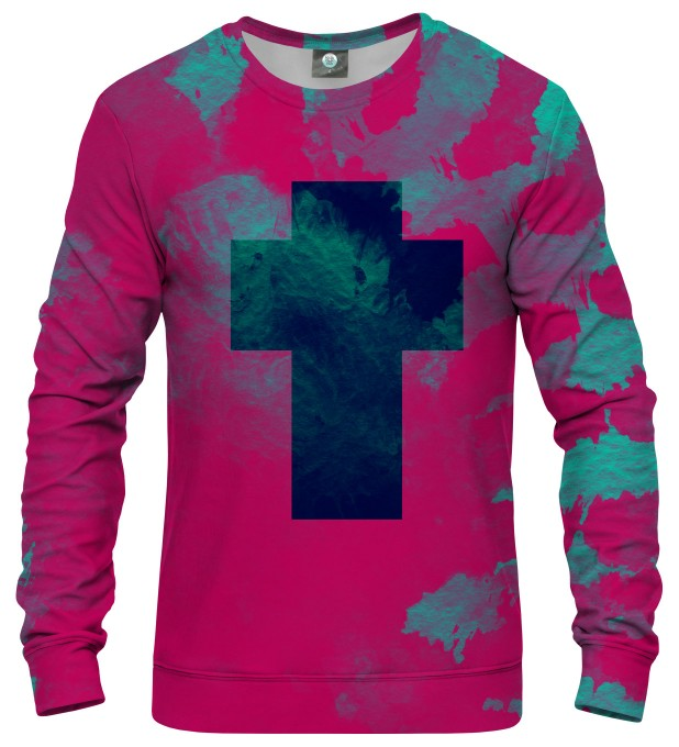 CROSS TIE DYE SWEATSHIRT Thumbnail 1