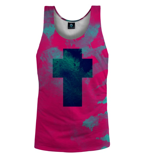 CROSS TANK TOP TIE DYE Miniatury 1