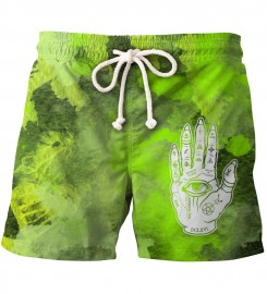 Aloha From Deer, EVIL TOUCH TIE DYE SHORTS Thumbnail $i