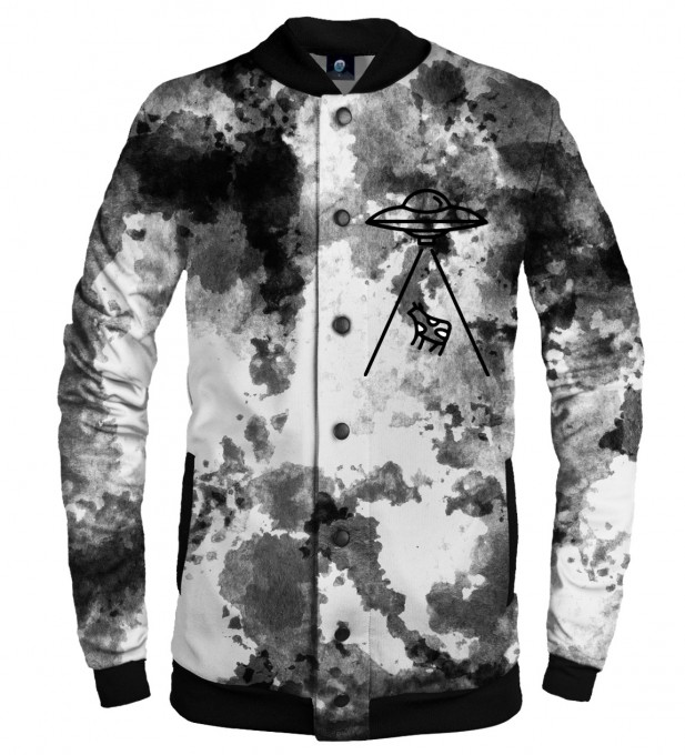 ABDUCTION TIE DYE BASEBALL JACKET  Thumbnail 1