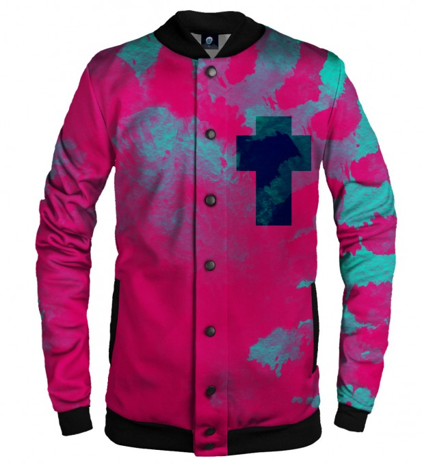 CROSS TIE DYE BASEBALL JACKET  Thumbnail 1