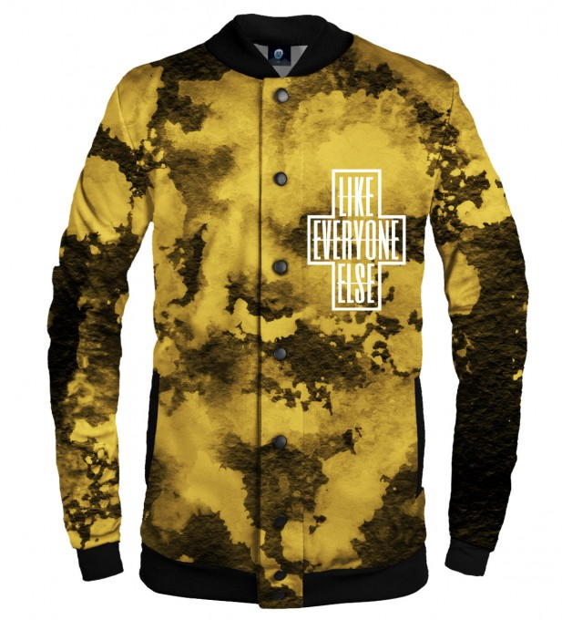 LIKE EVERYONE ELSE TIE DYE BASEBALL JACKET  Thumbnail 1