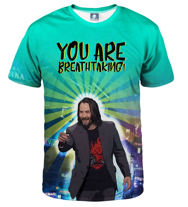 YOU ARE BREATHTAKING KEANU T-SHIRT Thumbnail 2