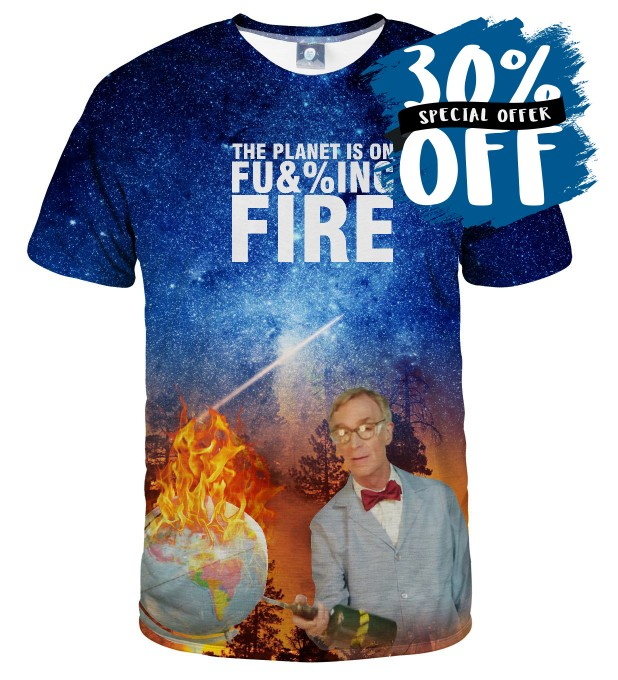 BILL NYE PLANET T-SHIRT Thumbnail 1