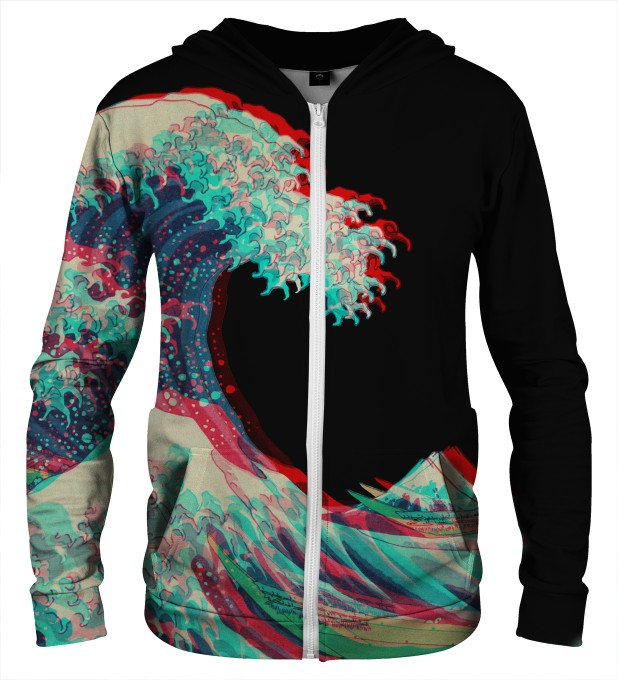 GREAT WAVE 3D ZIP UP HOODIE Thumbnail 1