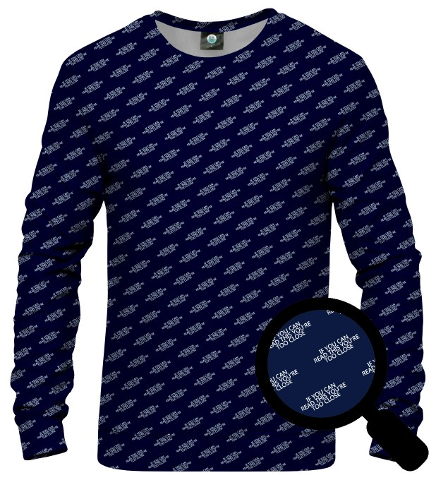 BLUZA TOO CLOSE NAVY Miniatury 2