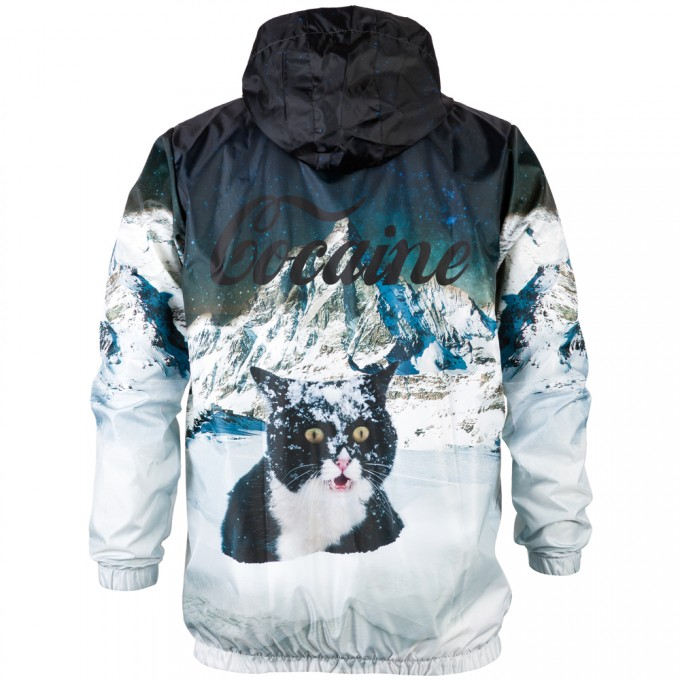 Cocaine Cat windbreaker Miniaturbild 2