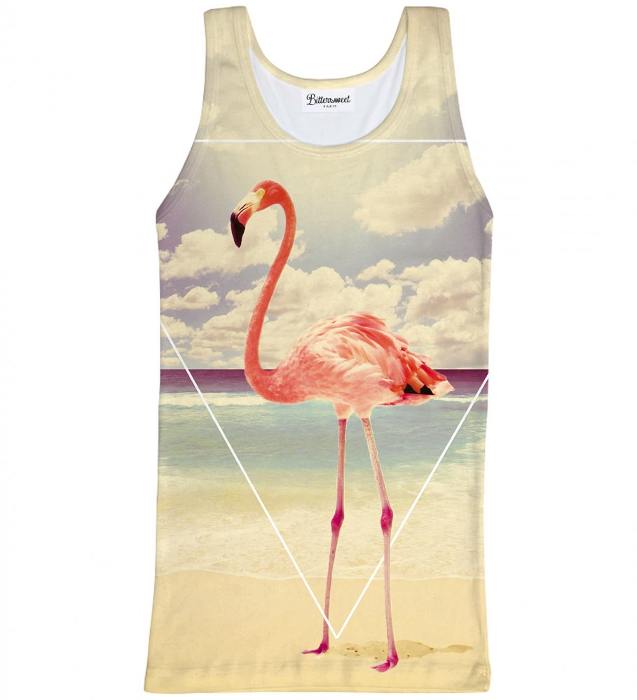 Bittersweet Paris, Flamingo Tank Top Image $i