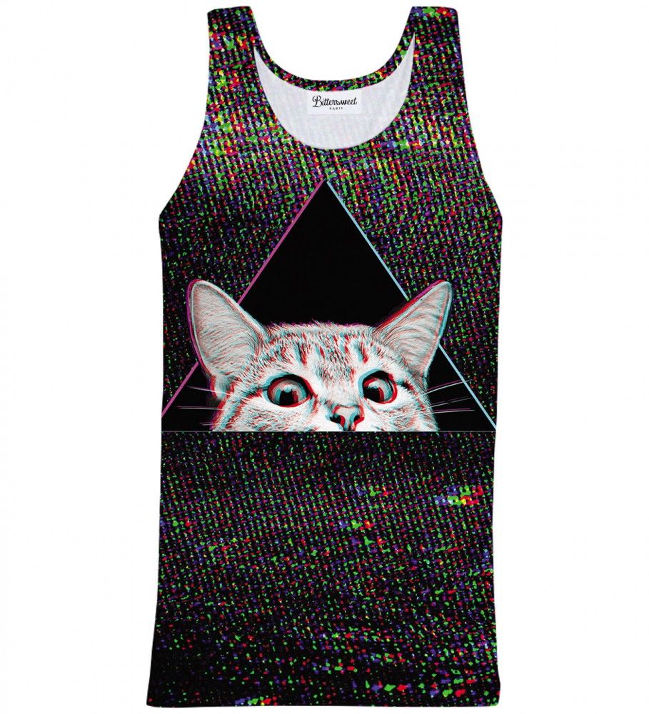 Bittersweet Paris, Technocat Tank Top Image $i