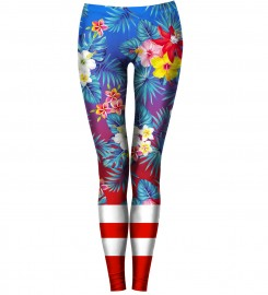 Bittersweet Paris, Flowers Explosion Leggings Thumbnail $i