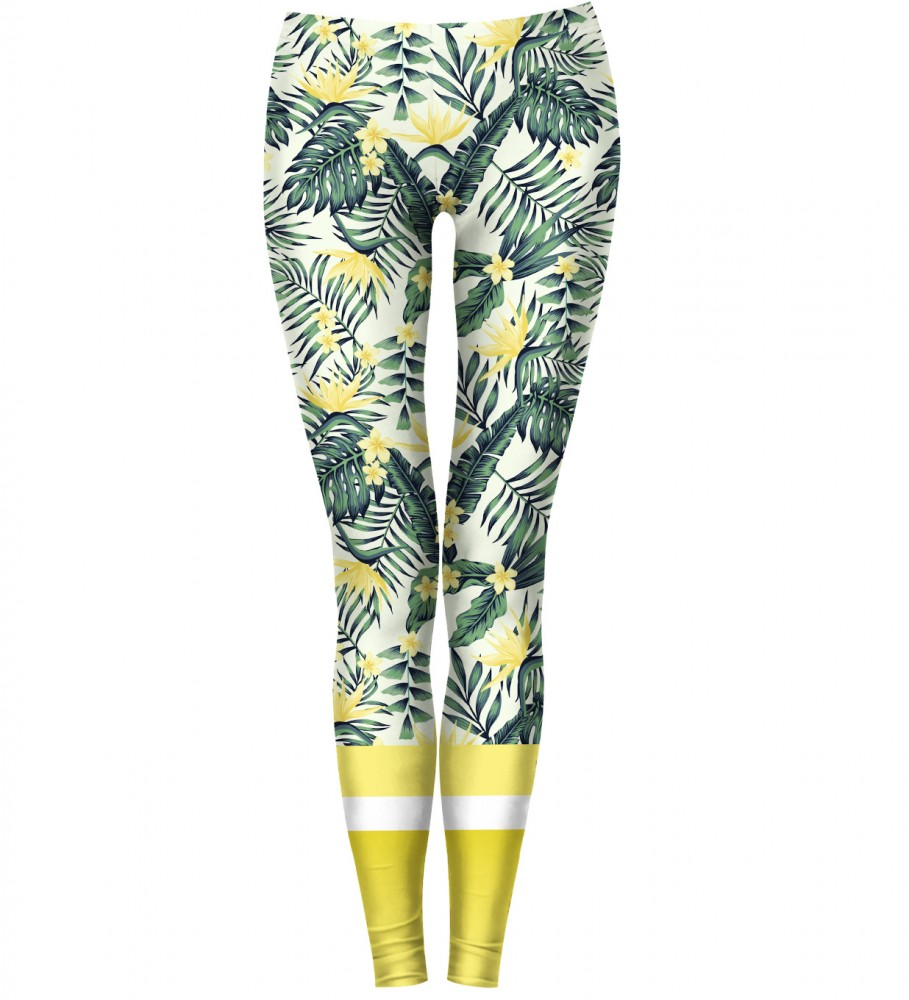 Bittersweet Paris, Yellow Nature Leggings Image $i