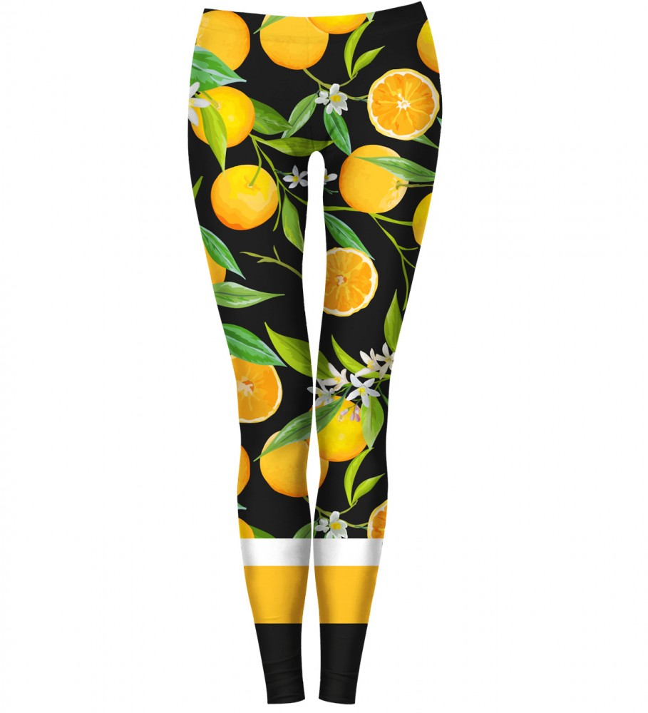 Bittersweet Paris, Oranges Leggings Image $i