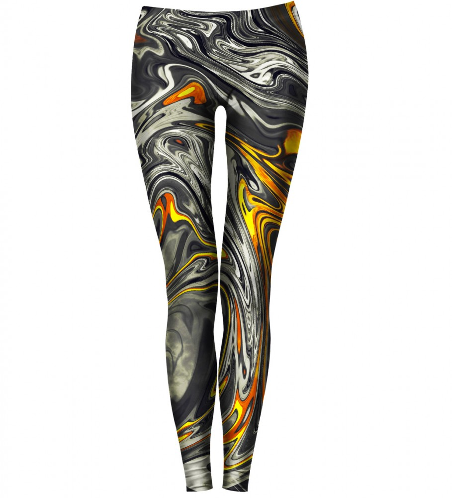 Bittersweet Paris, Golden Marble Leggings Image $i