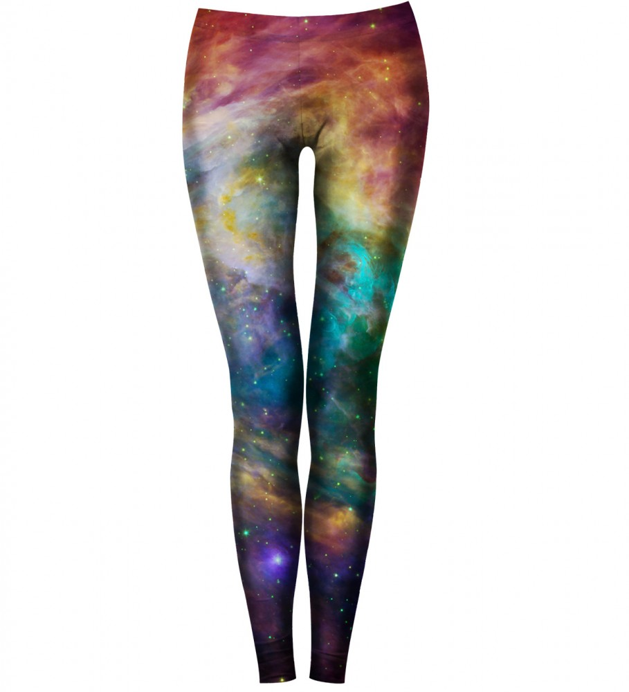 Bittersweet Paris, Galaxy Nebula Leggings Image $i