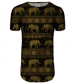 Bittersweet Paris, Golden Elephants longline t-shirt Thumbnail $i