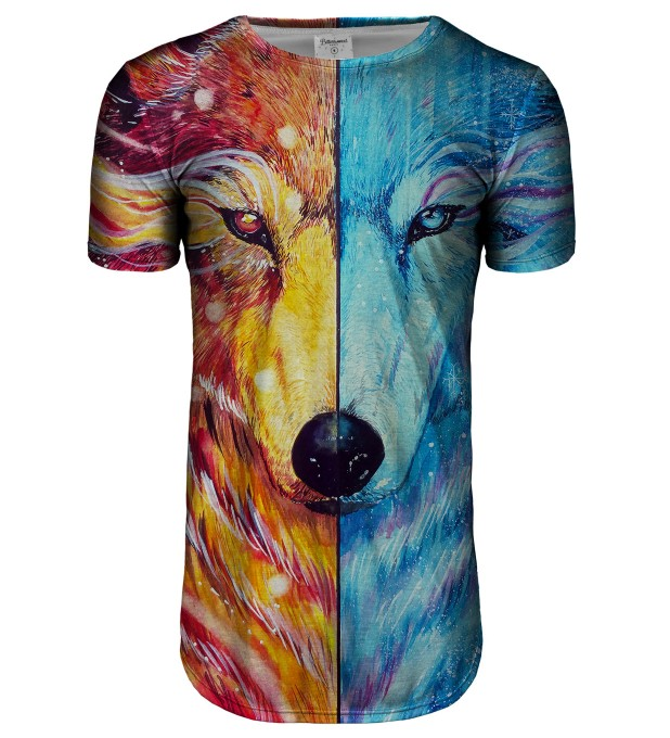 Fire and Ice longline t-shirt Thumbnail 1