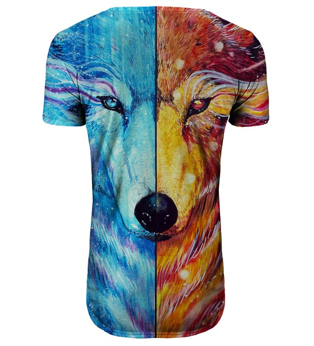 Fire and Ice longline t-shirt Thumbnail 2