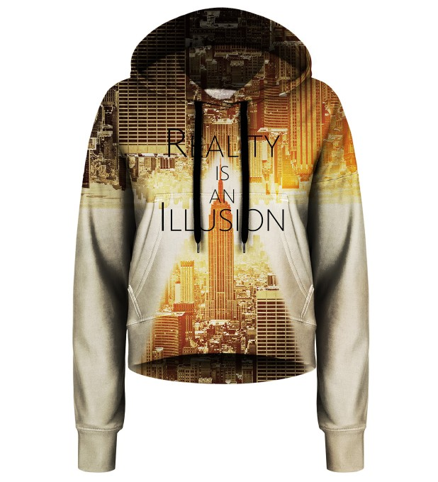 Reality cropped hoodie Thumbnail 1