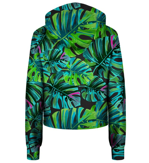 Tropical Colors cropped hoodie Thumbnail 2