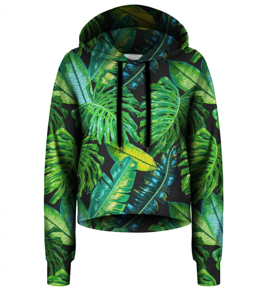 Bittersweet Paris, Tropical cropped hoodie Image $i