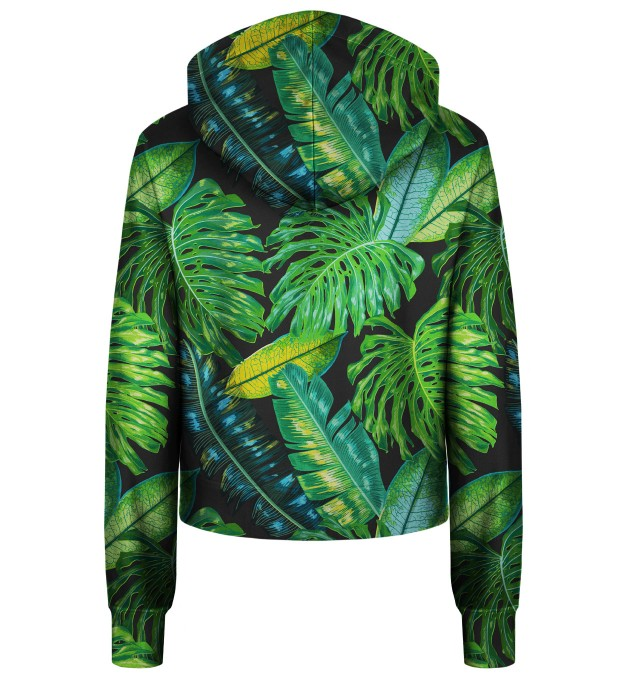 Tropical cropped hoodie Thumbnail 2