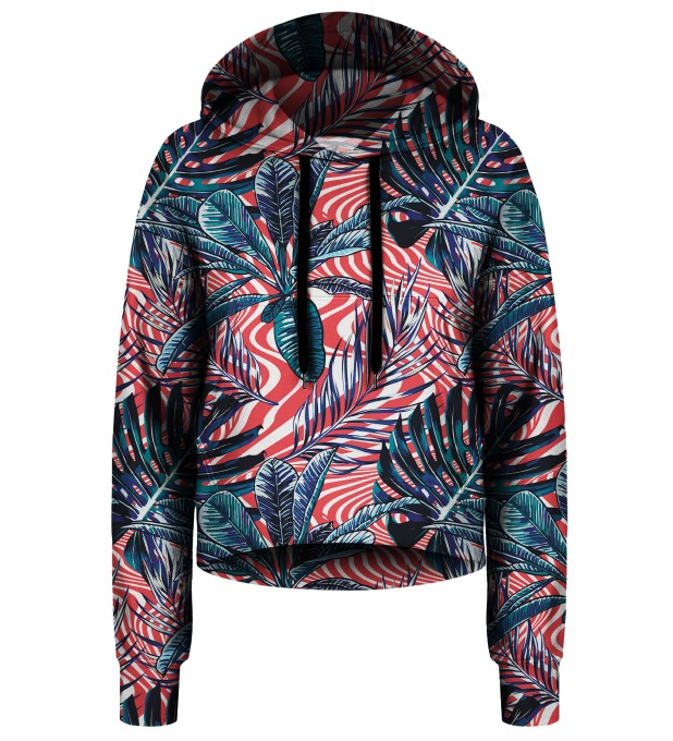 Abstract Flowers cropped hoodie Thumbnail 1