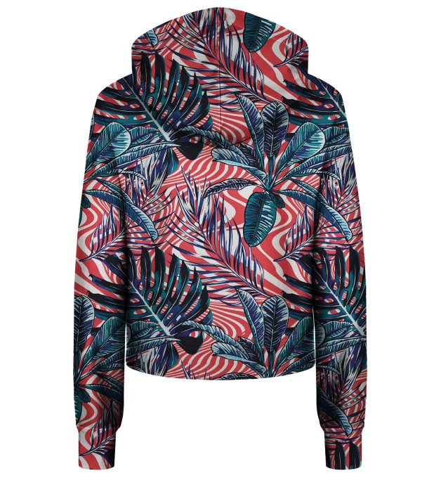 Abstract Flowers cropped hoodie Thumbnail 2
