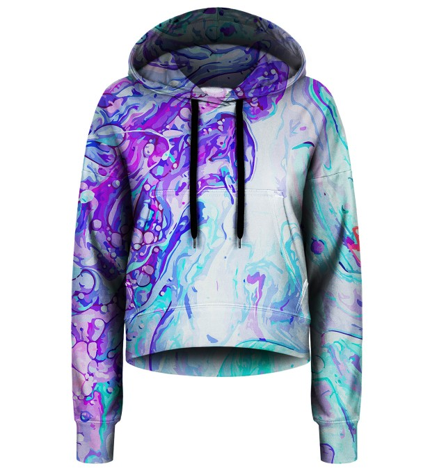 Blue Marble cropped hoodie Thumbnail 1