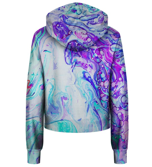 Blue Marble cropped hoodie Thumbnail 2