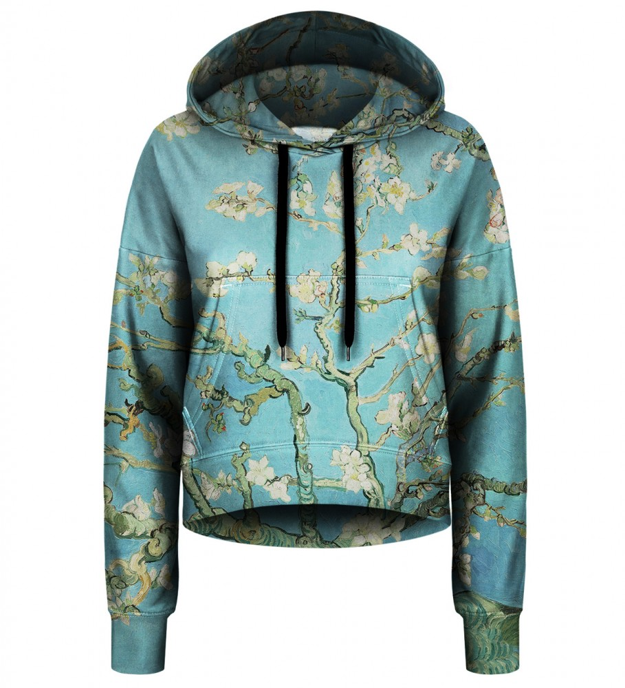 Bittersweet Paris, Almond Blossom cropped hoodie Image $i
