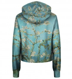 Bittersweet Paris, Almond Blossom cropped hoodie Thumbnail $i