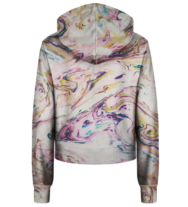 White Marble cropped hoodie Thumbnail 2