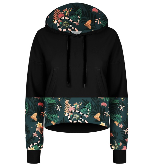 In the Jungle cropped hoodie Thumbnail 1