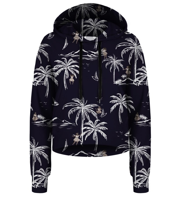 Hawaii Palms cropped hoodie Thumbnail 1