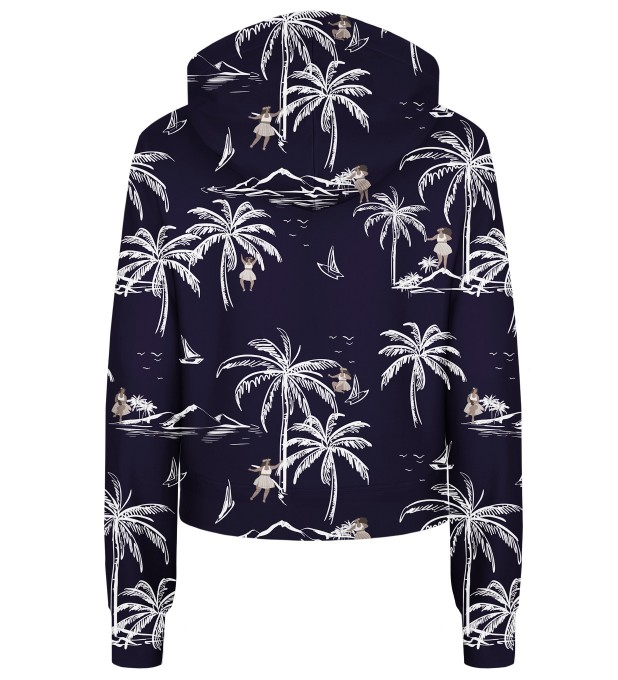 Hawaii Palms cropped hoodie Thumbnail 2