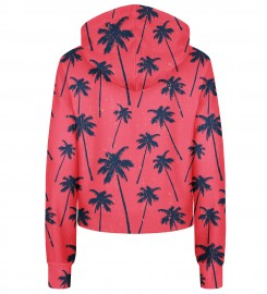 Bittersweet Paris, Red Palms cropped hoodie Thumbnail $i