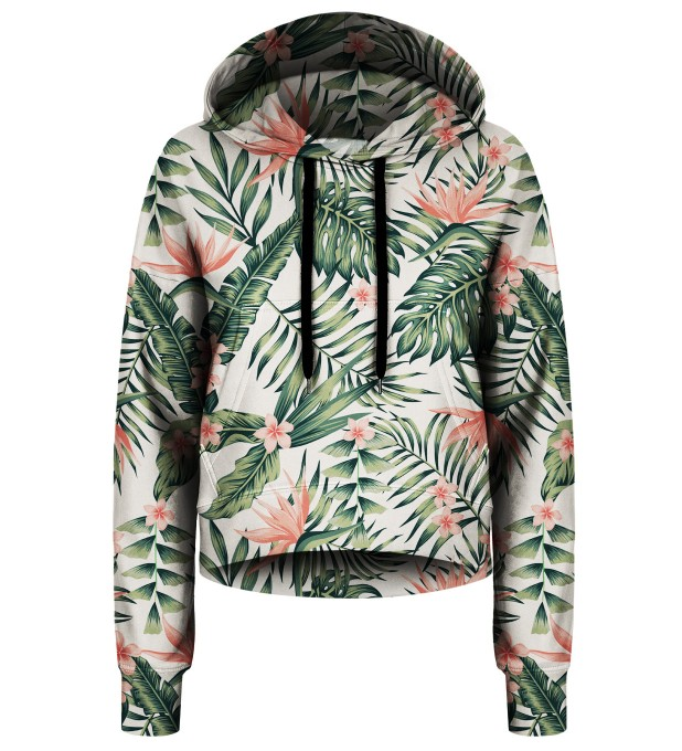 Jungle Flowers cropped hoodie Thumbnail 1