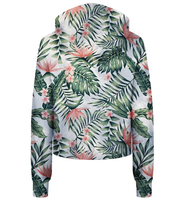 Jungle Flowers cropped hoodie Thumbnail 2
