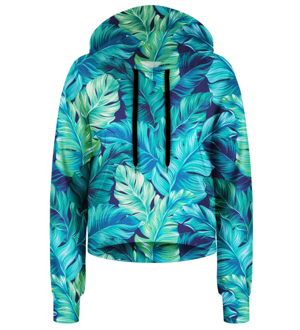 Blue Paradise cropped hoodie Thumbnail 1
