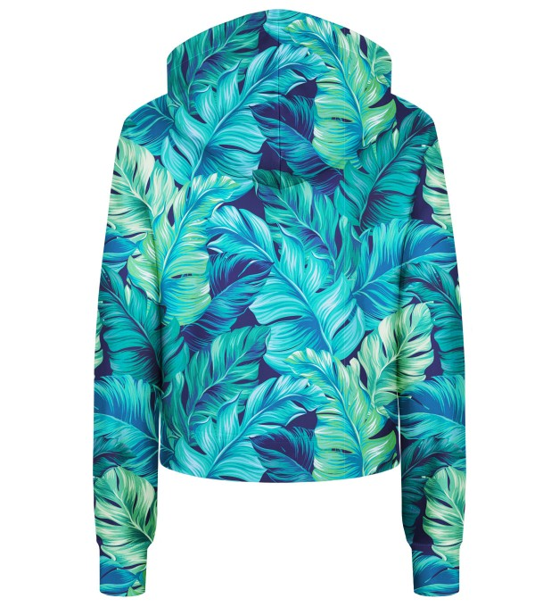 Blue Paradise cropped hoodie Thumbnail 2